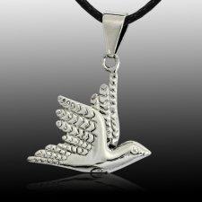 Soaring Dove Cremation Pendant