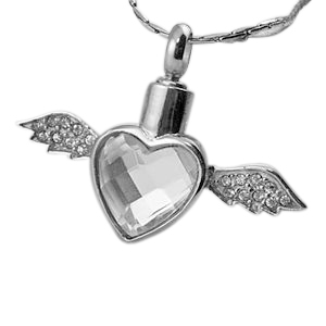 Soaring Heart Cremation Necklace