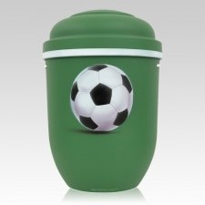 Soccer Biodegradable Urn in Lime