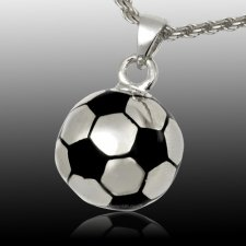 Soccer Cremation Pendant