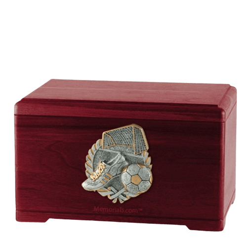 Soccer Fan Rosewood Cremation Urn