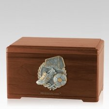 Soccer Fan Walnut Cremation Urn