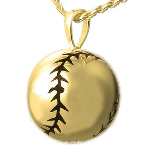 Softball Cremation Pendant IV