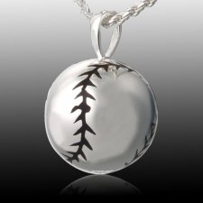 Softball Cremation Pendant