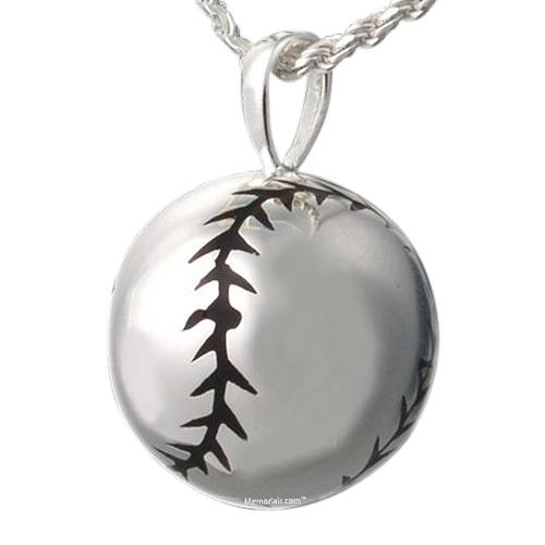 Softball Cremation Pendant