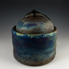 Solar Cloud Raku Cremation Urn