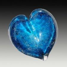 Solar Heart Small Glass Cremation Keepsake