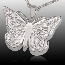 Solitary Butterfly Cremation Pendant III