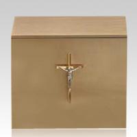 Crucifix Bronze Cremation Urn