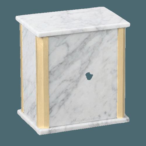 Solitude Bianco Carrara Marble Cremation Urns