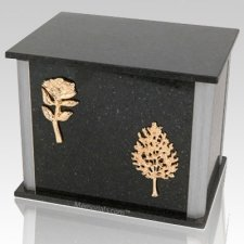 Solitude Cambrian Silver Urn For Two