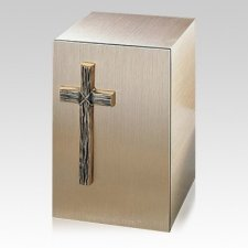 Solitude Cross Bronze Cremation Urn