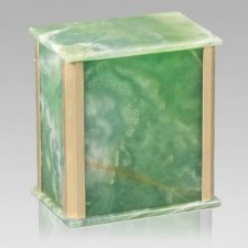 Solitude Green Onyx Urn