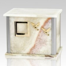 Solitude Mink Silver Urn For Two