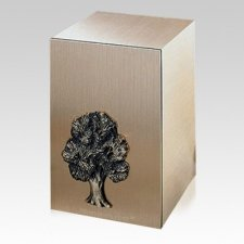 Solitude Oak Bronze Cremation Urn