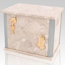 Solitude Perlato Silver Urn For Two