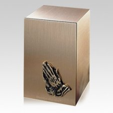 Solitude Praying Hands Bronze Cremation Urn