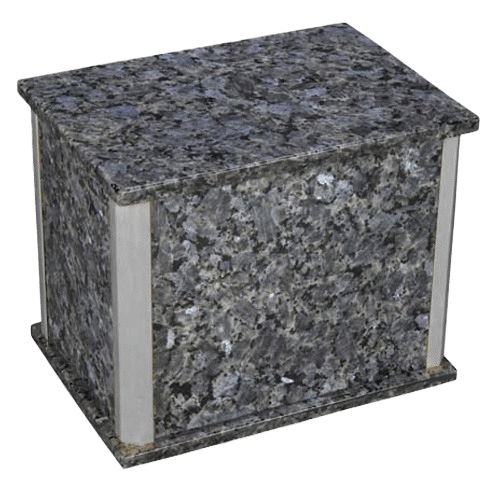 Solitude Silver Blue Pearl Granite Companion Urn