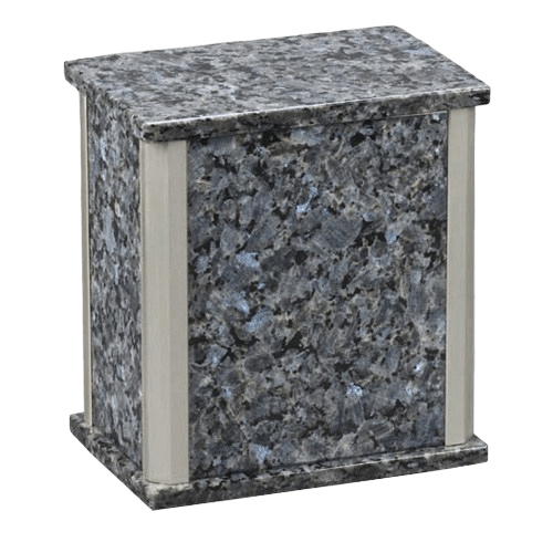 Solitude Silver Blue Pearl Granite Urn