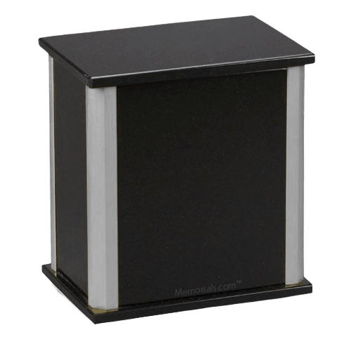 Solitude Silver Nero Absoluto Granite Urn