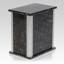 Solitude Silver Tan Brown Granite Urn