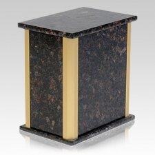 Solitude Tan Brown Granite Urn