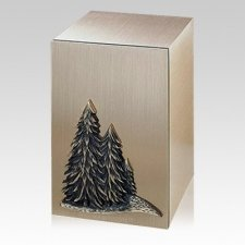 Solitude Trees Bronze Cremation Urn