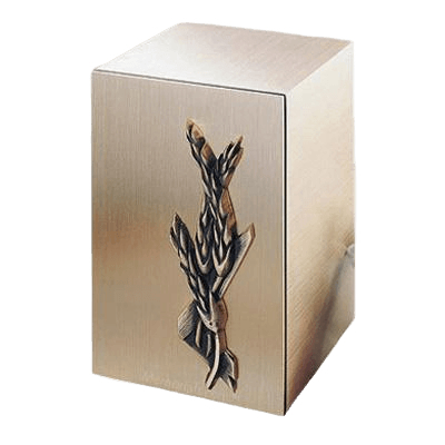 Solitude Wheat Bronze Cremation Urn