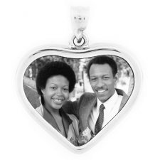 Soulful Silver Photo Pendant