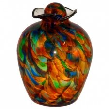 Sparkling Glass Cremation Urn