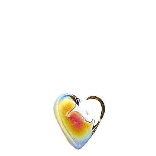 Spectrum Glass Heart Keepsake
