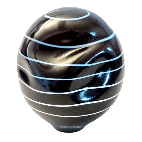 Spiral Organic Glass Cremation Urn