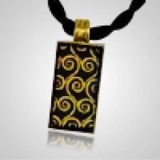 Splendor Gold Glass Memorial Jewelry
