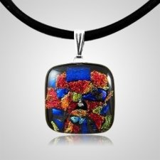 Spring Dichroic Square Glass Ash Pendant