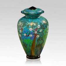 Spring Time Glass Urn