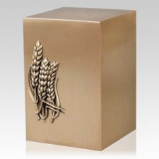 Spring Wheat Bronze Cremation Urn