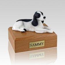 Springer Spaniel Black & White Large Dog Urn