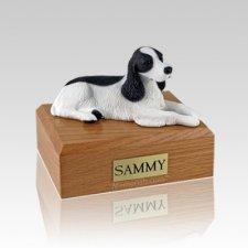 Springer Spaniel Black & White Medium Dog Urn