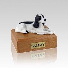 Springer Spaniel Black & White Small Dog Urn