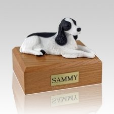 Springer Spaniel Black & White Dog Urns