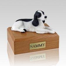 Springer Spaniel Black & White X Large Dog Urn