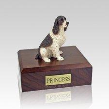 Springer Spaniel Liver & White Medium Dog Urn