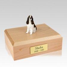 Springer Spaniel Liver & White Sitting Large Dog Urn