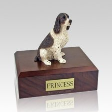 Springer Spaniel Liver & White Dog Urns