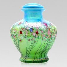 Springtide Glass Cremation Urn