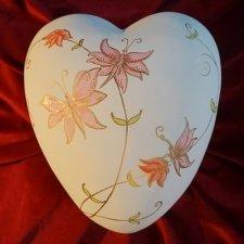 Springtime Ceramic Heart Urn