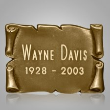 Square Gold Nameplate Medallion