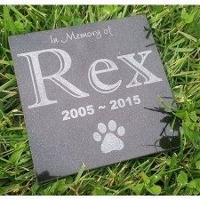 Square Granite Pet Grave Marker