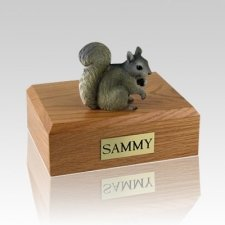 Squirrel Gray Large Cremation Urn