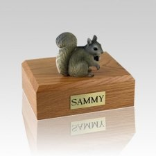 Squirrel Gray Medium Cremation Urn